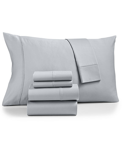 AQ Textiles Cotton Sateen 500-Thread Count 6-Pc. King Sheet Set