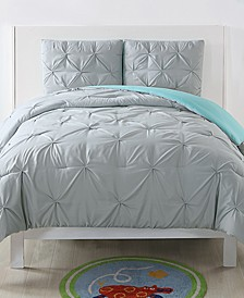 Reversible 3-Pc. Pleated Full/Queen Duvet Cover Set