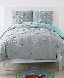 My World Reversible 2-Pc. Pleated Twin XL Duvet Cover Set
