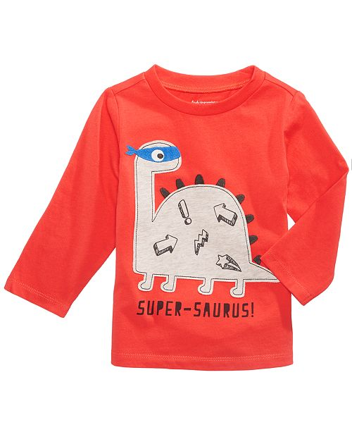 First Impressions Super-Dino Long-Sleeve T-Shirt, Baby Boys, Created for Macy's