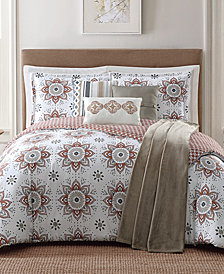 Jennifer Adams Home Maywood Reversible 7-Pc. Printed Comforter Sets