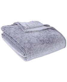 Berkshire VelvetLoft® Frosted Floral Damask Scroll Plush Twin Blanket