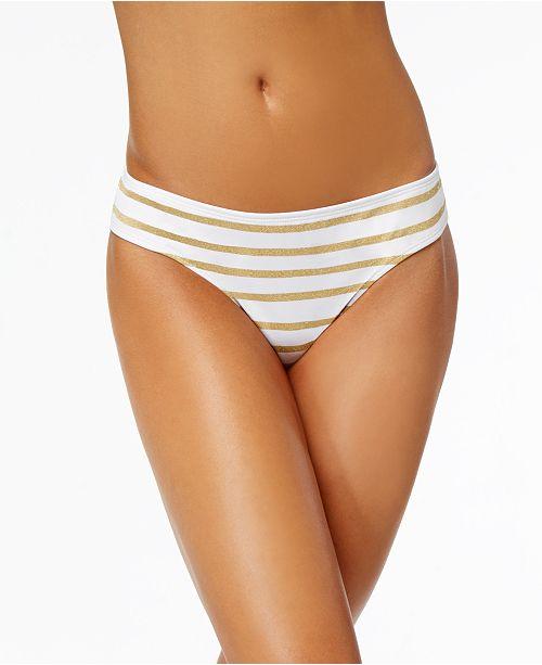 11e9007d3a Lauren Ralph Lauren Metallic-Stripe Hipster Bikini Bottoms & Reviews ...