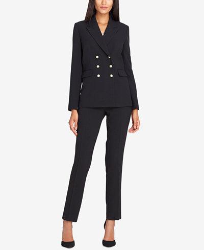 Tahari ASL Double-Breasted Pantsuit - Wear to Work - Women - Macy's