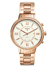 Women's Tech Virginia Rose Gold-Tone Stainless Steel Bracelet Hybrid Smart Watch 36mm