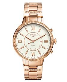 Women's Tech Virginia Rose Gold-Tone Stainless Steel Bracelet Hybrid Smart Watch 36mm