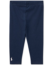 Ralph Lauren Baby Girls Solid Leggings