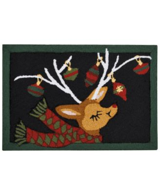 Image of Nourison Reindeer Holiday Accent Rug