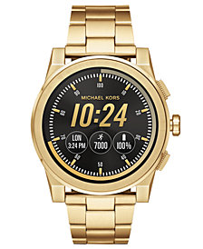 Michael Kors Access Men's Grayson Gold-Tone Stainless Steel Bracelet Touchscreen Smart Watch 47mm