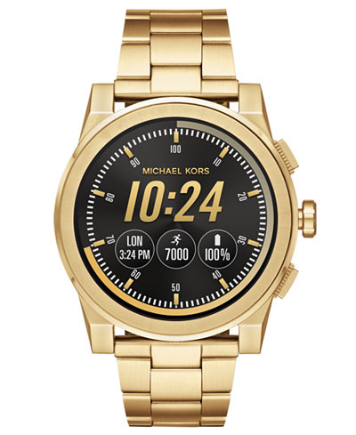 Michael Kors Access Men S Grayson Gold Tone Stainless