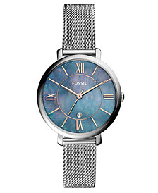 Fossil Women's Jacqueline Stainless Steel Mesh Bracelet Watch 36mm