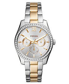 Fossil Women's Scarlette Two-Tone Stainless Steel Bracelet Watch 38mm
