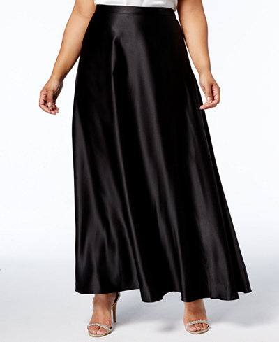 Alex Evenings Plus Size A-Line Maxi Skirt
