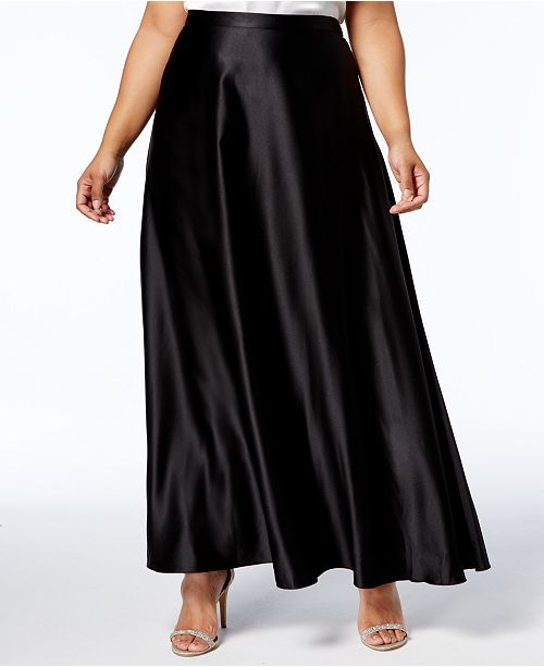 Alex Evenings Plus Size A-Line Maxi Skirt