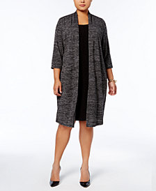 Connected Plus Size Layered-Look Dress