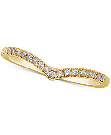 "Diamond ""V"" Stackable Ring (1/10 ct. t.w.)"