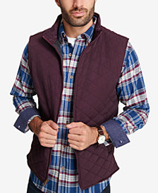 Weatherproof Vintage Men's Quilted Full-Zip Stand-Collar Vest, Created for Macy's