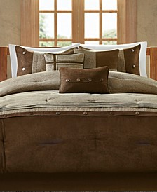 Boone Microsuede 7-Pc. California King Comforter Set
