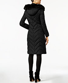 Laundry by Shelli Segal Faux-Fur-Trim Puffer Coat