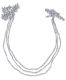I.N.C. Silver-Tone Pavé Vine Chain Clips, Created for Macy's