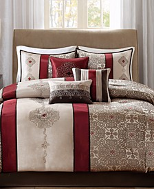 Donovan 7-Pc. Medallion Jacquard Comforter Set Collection