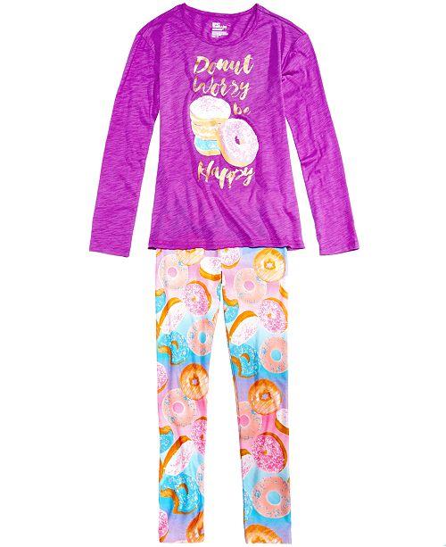5d4022b3 Epic Threads Donut-Print Long-Sleeve T-Shirt & Leggings, Big Girls ...