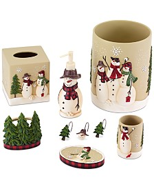 CLOSEOUT! Avanti Snowman Gathering Holiday Bath Accessories Collection