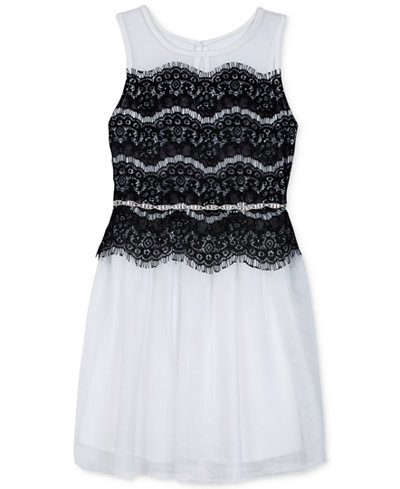 BCX Lace-Detail Party Dress, Big Girls