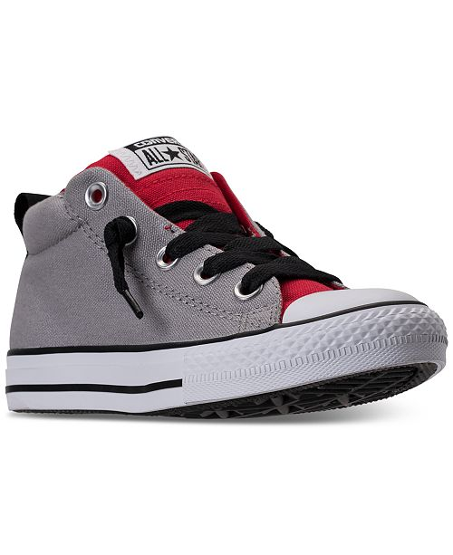358b74befc87 ... Converse Boys  Chuck Taylor All Star Street Mid Casual Sneakers from  Finish ...