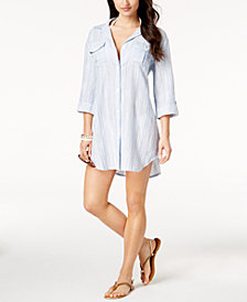 Dotti Chambray Shirtdress Cover-Up
