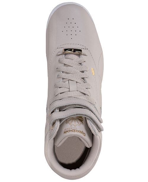 9a2b3888816a ... Reebok Women s Freestyle Hi Top Muted Casual Sneakers from Finish ...
