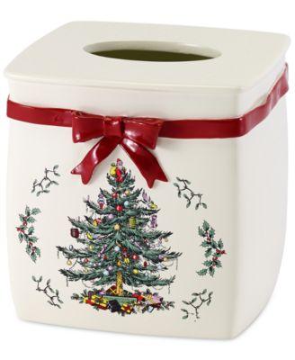 Spode Christmas Tree Tissue Cover