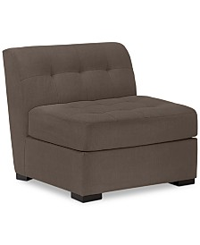 "Roxanne II 33"" Performance Fabric Armless Chair, Created for Macy's"