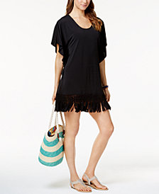 Dotti Beach Blossom Fringe Tunic Cover-Up