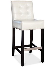 Avanti Leather Bar Stool, Quick Ship
