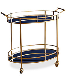 Brenna Oval Bar Cart, Quick Ship