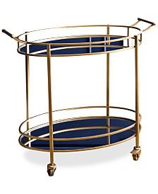 Brenna Oval Bar Cart, Quick Ship