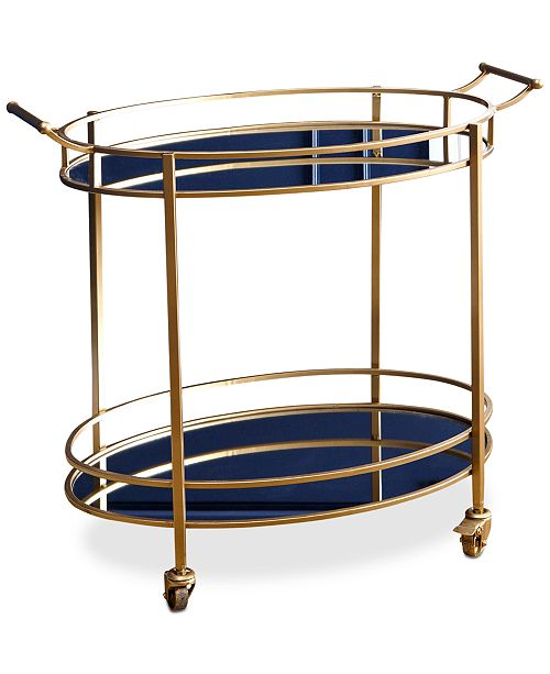 Abbyson Living Brenna Oval Bar Cart, Quick Ship