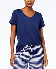 HUE® V-Neck Cotton-Blend Top