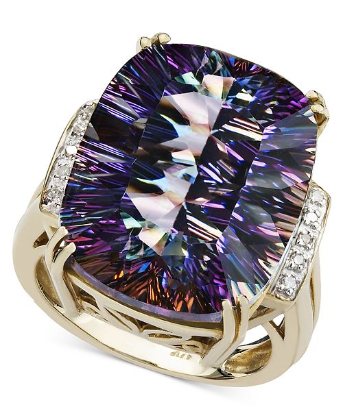 Macy's Mystic Topaz (11 ct. t.w.) and Diamond Accent Ring in 14k Gold