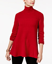 Style & Co Petite Turtle Neck Tunic Sweater, Created for Macy's