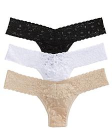 3-Pk. Lace Original-Rise Thong Underwear 48113PK