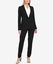 DKNY One-Button Blazer & Skinny Pants