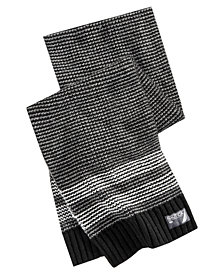 Nautica Men's Tuck Stitch Striped Scarf
