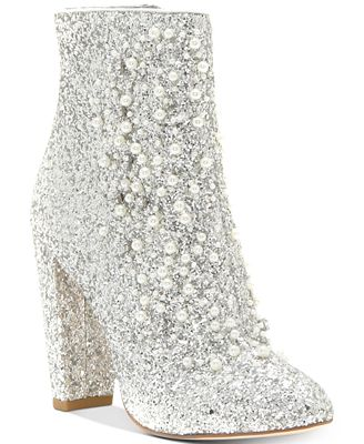 Jessica Simpson Starlite Pearl-Embellished Booties