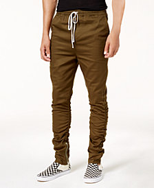 Jaywalker Men's Ruched Ankle-Zip Joggers