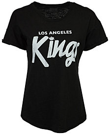 Retro Brand Women's Los Angeles Kings Rolled Sleeve Rounded T-Shirt