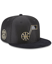 New Era Utah Jazz On-Court Black Gold Collection 9FIFTY Snapback Cap