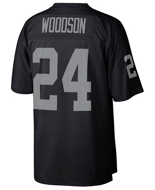 the best attitude d1cb1 a2ee9 Men's Charles Woodson Oakland Raiders Replica Throwback Jersey