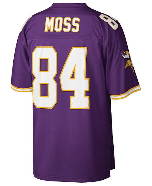 promo code 82a2e e80e4 Men's Randy Moss Minnesota Vikings Replica Throwback Jersey